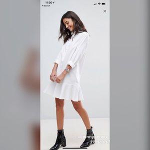 9f767eac094 ASOS Dresses - ASOS Tall Peplum Mini Shirt Dress
